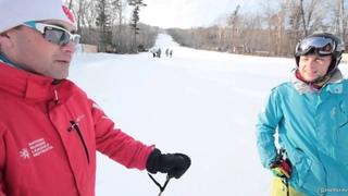 """урок №2 Как тормозить и контролировать скорость на лыжах """"в плуге"""""""