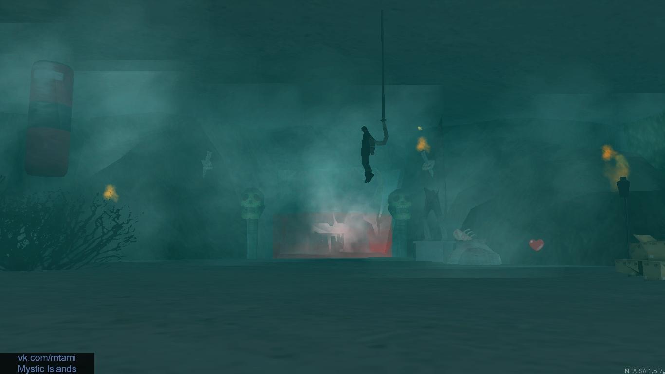 Везде горящие огни, черепа, трупы, туман, мелодия.