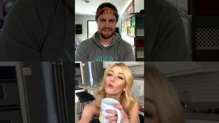 Stephen Amell and Katherine McNamara Instagram Live / Arrow