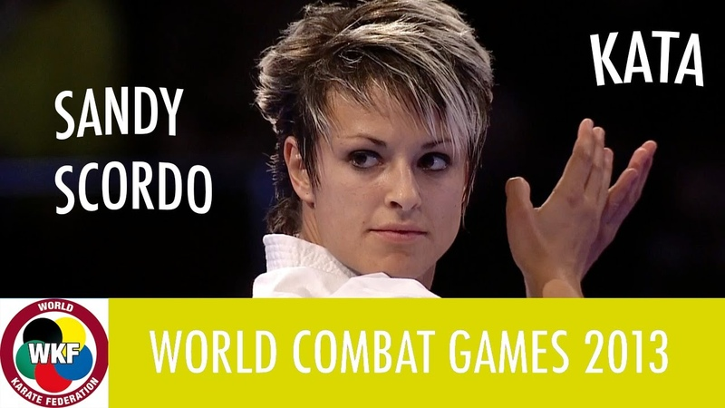 Karate Women's Kata Sandy SCORDO of France Finals Gold Medal Fight