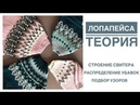 Лопапейса Теория Основные элементы свитера Распределение убавок Подбор узоров