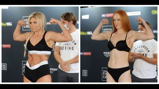 TOUGH TEST! - SHANNON COURTENAY v RACHEL BALL - OFFICIAL WEIGH IN (EDDIE HEARN'S FIGHT CAMP WEEK 3)