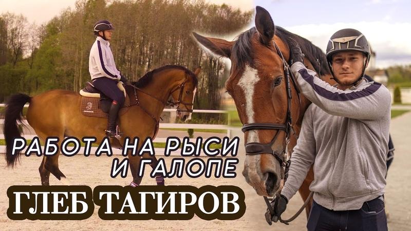 Глеб Тагиров и Адонис Тренировка Работа на рыси и галопе