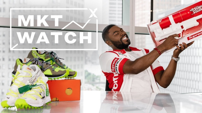 StockX MKT Watch International 350s, Supreme Soakers Stranger Things