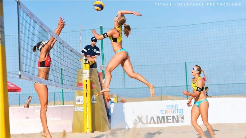 TOP 20 Powerful Beach Volleyball Spikes | 2018 FIVB Beach Volleyball World Tour Womens