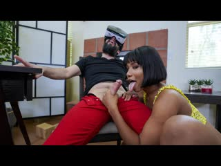 Jenna Fox - Virtual Reality Jenna Fox Fucks So Real (Ebony, Blowjob, Black Hair, Natural Tits, VR Reality)