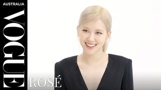 Vogue quizzes Blackpink's Rosé   Celebrity Interview   Vogue Australia