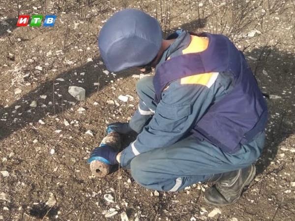 В Ленинском районе обезвредили осколочную авиабомбу