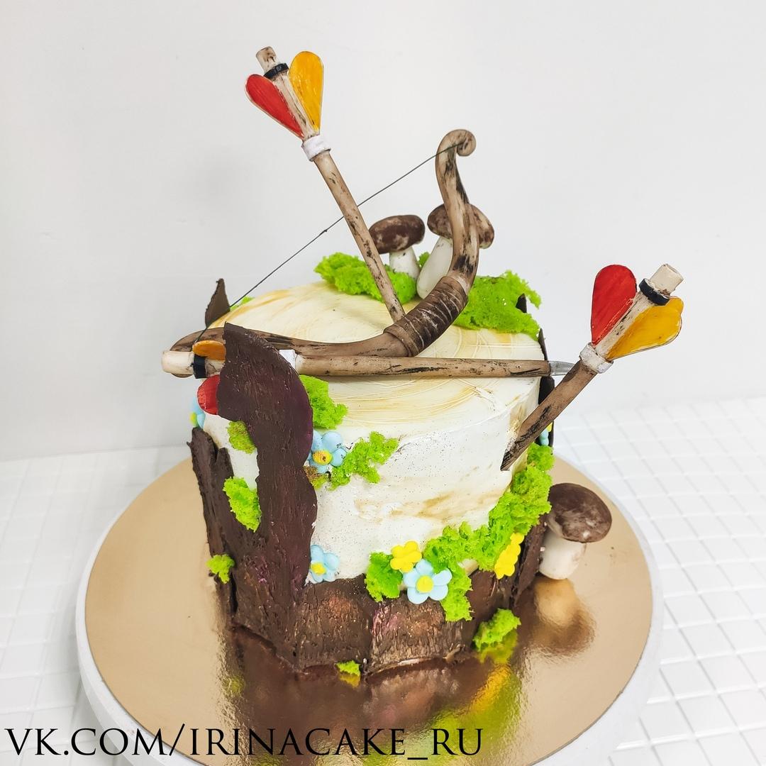Торт на тематику стрельбы из лука (Арт. 664)