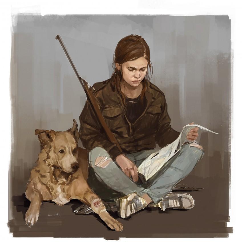 Элли с собакой: появились свежие концепты The Last of Us: Pa