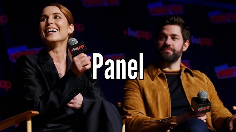 John Krasinski, Noomi Rapace Jack Ryan Panel (New York Comic Con 2019)
