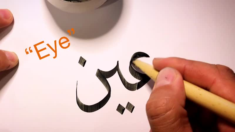 Arabic Calligraphy Al Biskri Ain