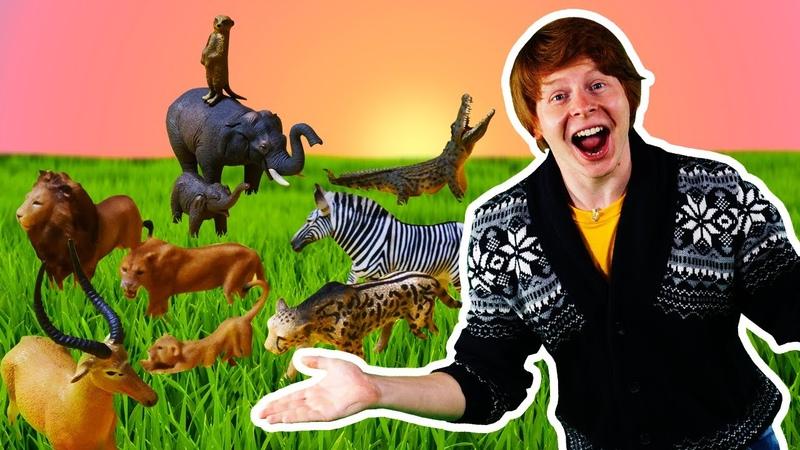Видео игры для детей Животные Collecta в замке игрушек Веселое шоу Hey toys