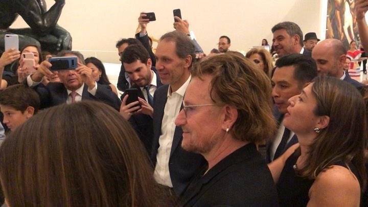"""Sebastian Yatra on Instagram: """"Ese momento absurdo y loco de la vida (que aún no logro entender) donde Bono me estaba viendo cantar en vivo 🤯🤯🤯 @u2..."""