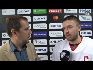 Блиц-интервью Александра Евсеенкова о матче с ХК Торпедо ()