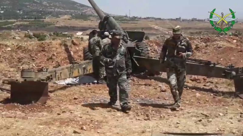 SYRIAN ARMY'S 4TH DIVISION WORKING IN LATAKIA IDLIB COUNTRYSIDE 🇸🇾✌