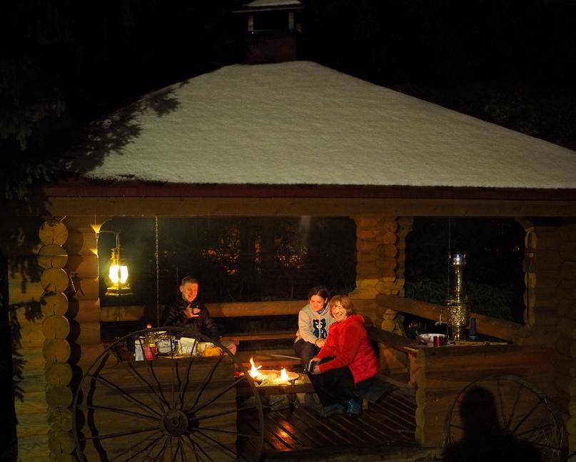 Наши романтичные вечера в Карелии проходят именно так!