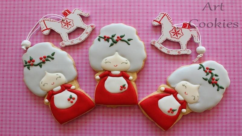 Galleta de Navidad: Vintage Mama Noel