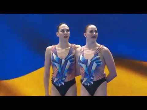 Marta Fiedina Anastasiya Savchuk Ukraine Duet Technical Preliminary Gwangju 12th July 2019