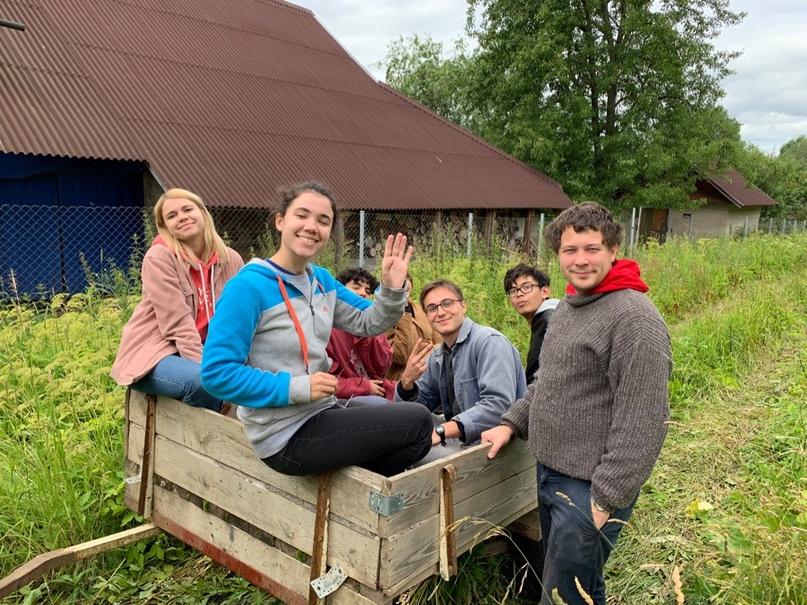 фото и международного лагеря «Бюро умных путешествий» на биодинамической ферме в Лен.области