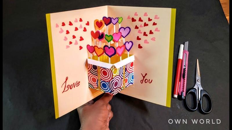 Beautiful Birthday Greeting Card Idea | DIY BirthDay pop-up card |DIY - Birthday Day card!
