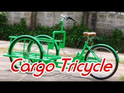 จักรยานสามล้อ ส่งน้ำดื่มภายในรีสอร์ท Cargo Tr