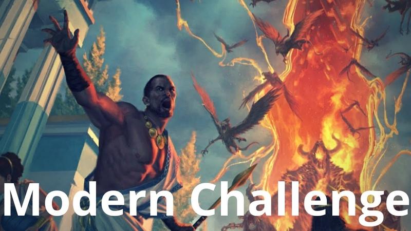 Modern Challenge Round 2 Grinding Breach vs Bant Snowblade