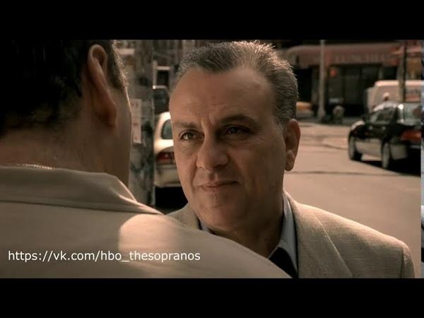 The Sopranos Клан Сопрано Разговор Джони и Тони про Vespa