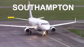 CROSSWIND Stormy Flybe (virgin Connect) arrivals into Southampton Airport Plane Spotting Fri 1 hour