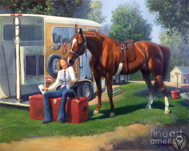 Художница Jeanne Newton Schoborg Влюбленность в лошадей дана с рожденья. часть 2