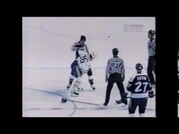 Matt Barnaby vs Enrico Ciccone Buffalo Sabres vs Tampa Bay Lightning hockey fights