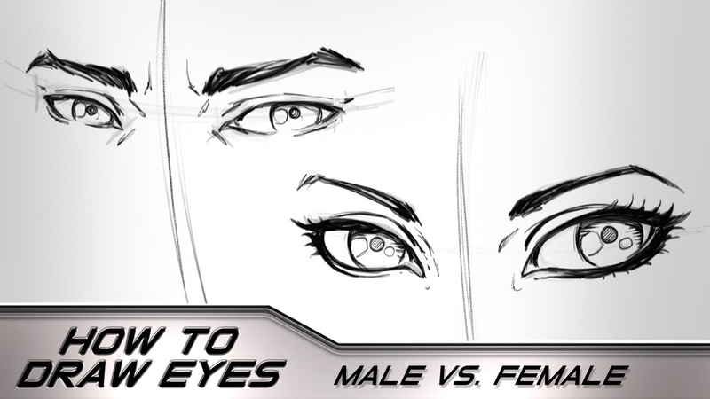 How to Draw Eyes Male Vs Female Step by Step - Narrated