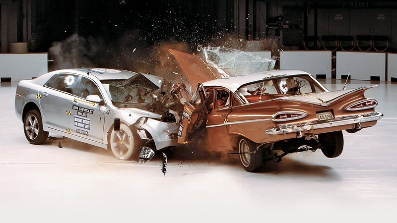 1959 Chevrolet Bel Air vs 2009 Chevrolet Malibu IIHS crash test