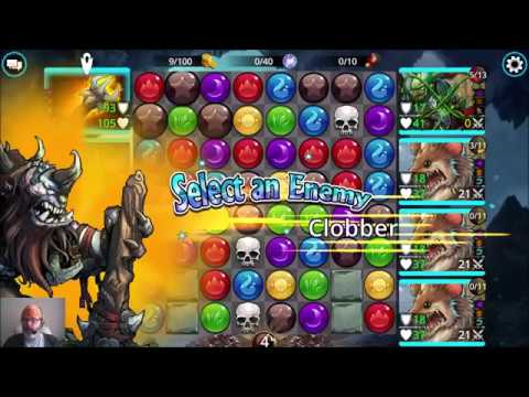 Gems of War Barbarian Showcase Delve 2 Crypt Keepers