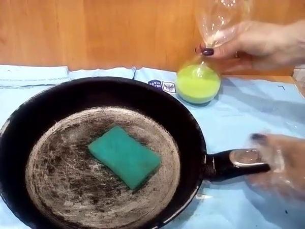 Как почистить Сковороду Очень Дешево Легко помыть посуду how easy it is to clean the dishes cleanin
