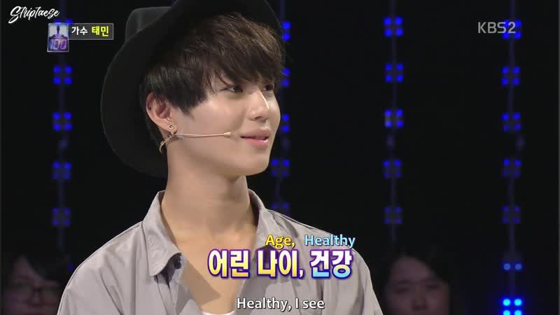 131112 SHINee Taemin 1vs100 Part 2 2 Eng Sub