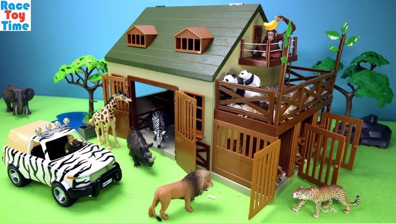 Terra Battat Animal Care Playset - Building plus animal toys