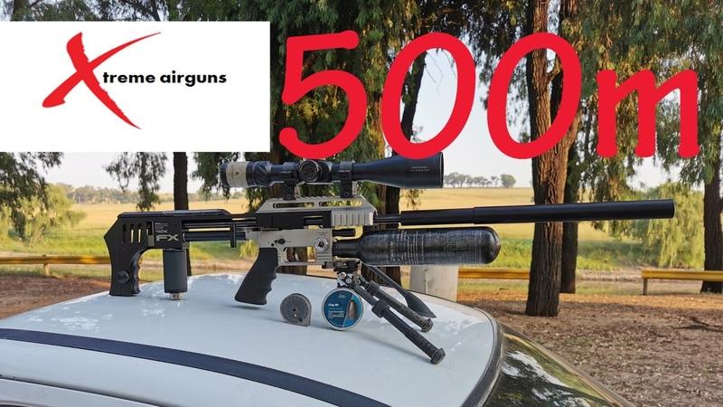 500m with 25gr HN slug and FX Impact X with Extreme Airguns plenum