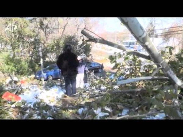 Days After Freak Snow Still No Power in Conn