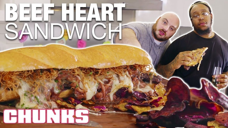 Epic Valentine's Day Meal GIGANTIC Beef Heart Sandwich Chunks