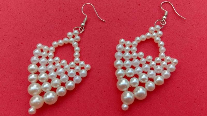 How to make earrings pearl earrings useful easy