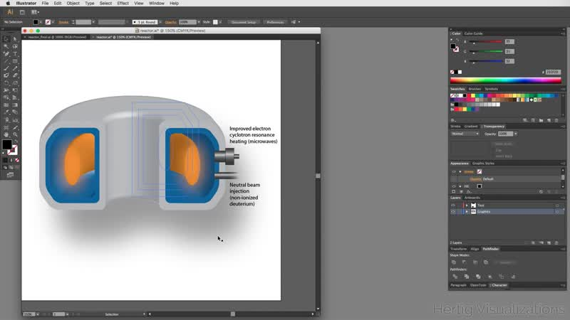 Adobe Illustrator CS6 Tutorial_ Infographic on Nuclear Reactor