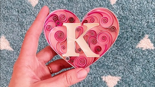 Quilled LETTER in heart - How to make  Valentines card - Love gift - Paper Art