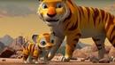 Маугли - Книга Джунглей - Все серии про тигренка Шоту - сборник – развивающий мультфильм для детей