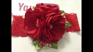 Pedido especial tiara roja VIDEO  Creaciones Rosa Isela
