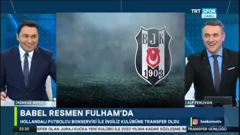 Beşiktaş Transfer Günlüğü ¦ Trtspor 15 Ocak ¦ Babel Fulhamda Yerine Transfer Olacak Mı؟