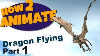 Dragon flying 3D Maya Animation Tutorial | Part 1 | HOW2ANIMATE