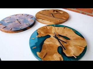 Часы из дерева и эпоксидной смолы | Clock made of wood and epoxy resin