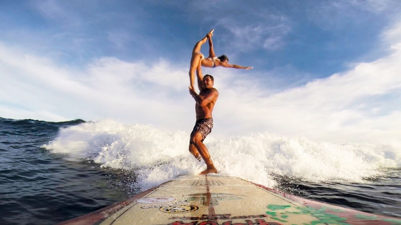 GoPro Tandem Surfing with Kalani Vierra and Krystl Apeles