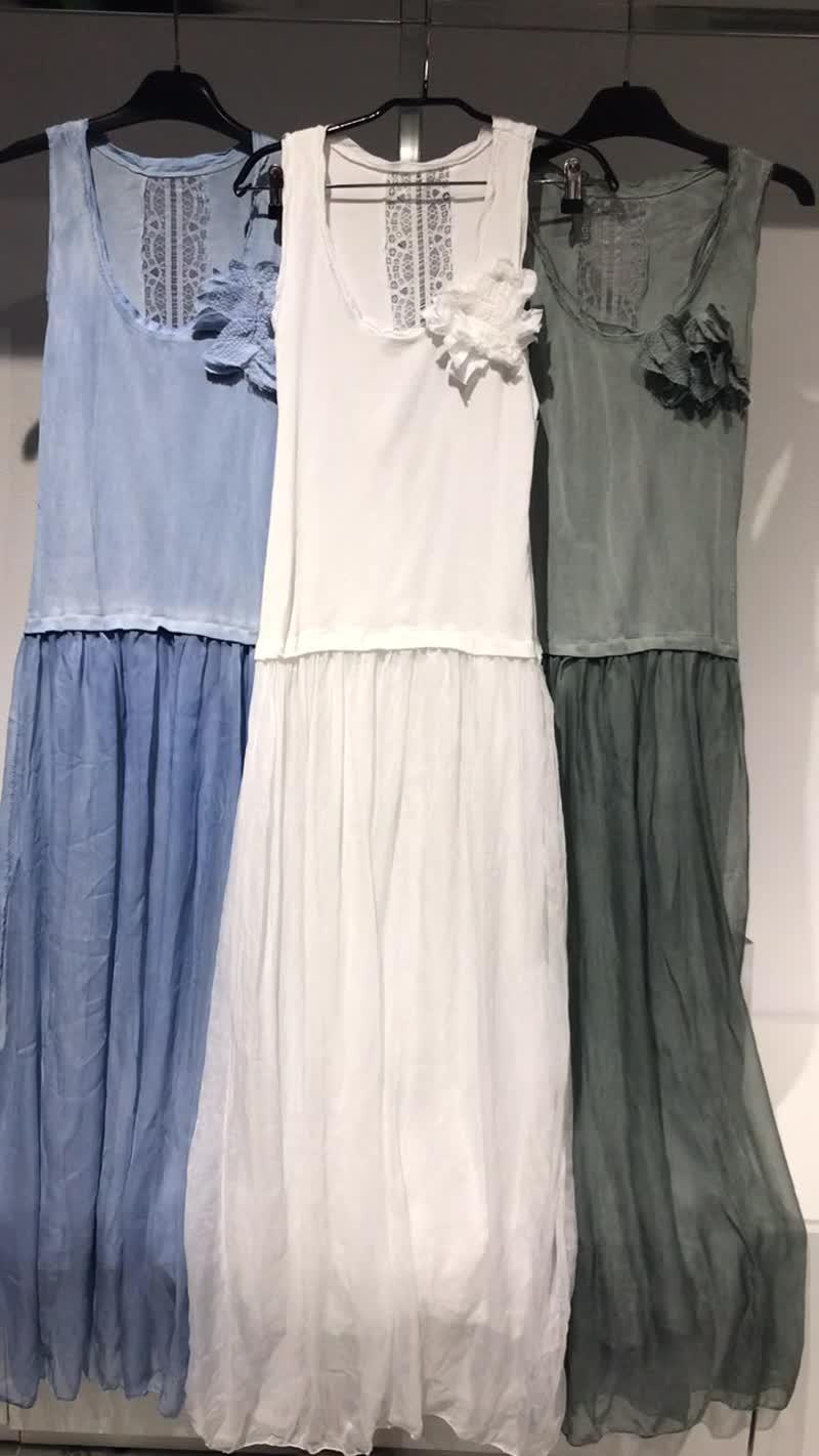 Платье юбка шифон майка трикотаж